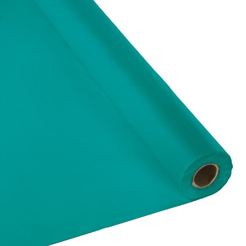 Schorin Company Teal Plastic Table Cover Roll 40 Quot X 300